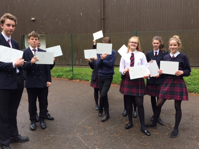 Year 10 exploring Venn Diagram in the rain