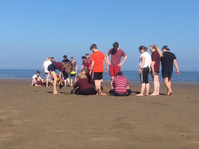 Games lesson on the beach