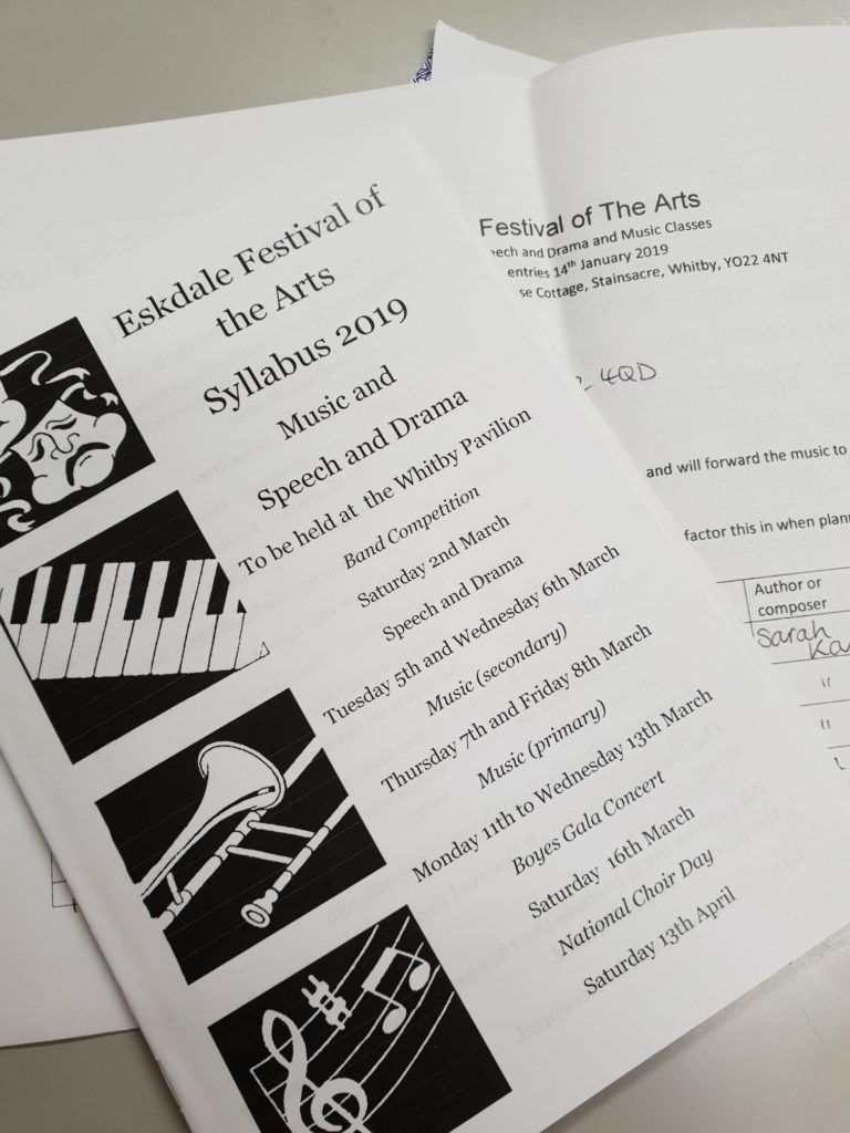 Eskdale Festival Entries are in! - Fyling Hall