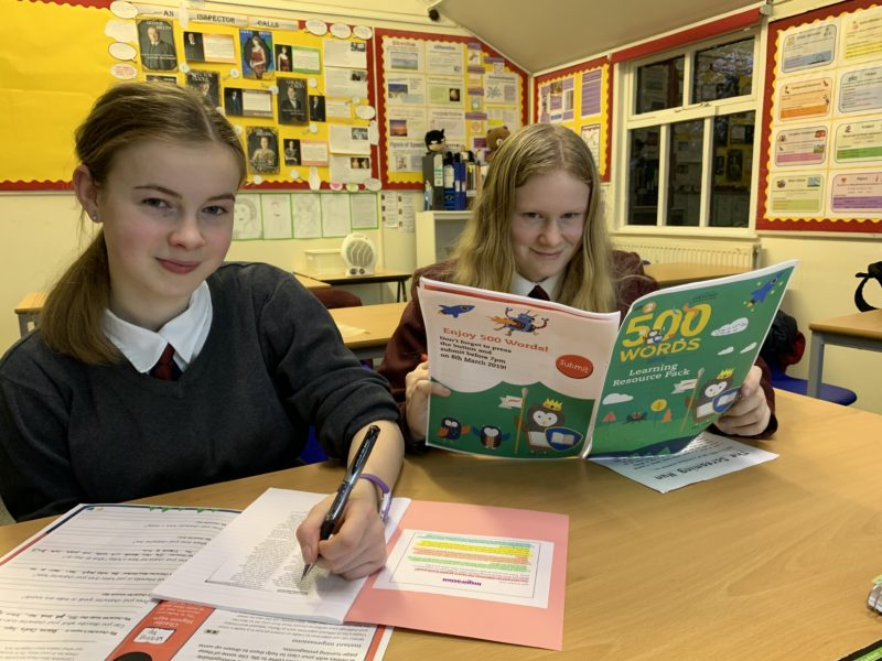 Olivia and Mabel are just two of Fyling Hall's students involved with the BBC Radio 2's 500 Word Competition