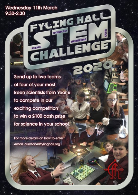 Fyling Hall's first STEM Challenge competition, 11th March 2020