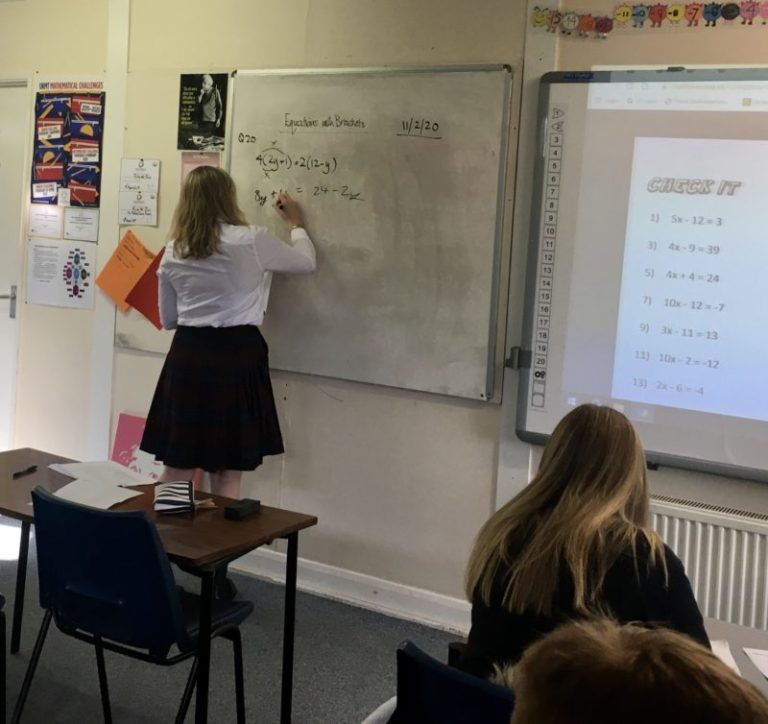 Eve demonstrates how to work effectively in Maths