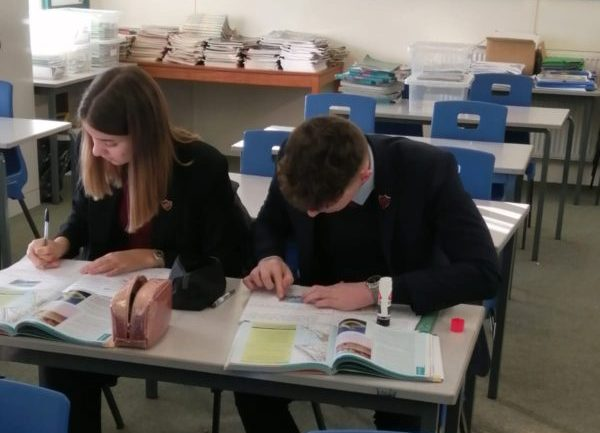 Phoebe and Rory contemplate a thought provoking Geography question