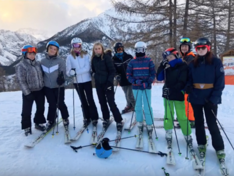 2019 Fyling Hall skiers hitting the slopes