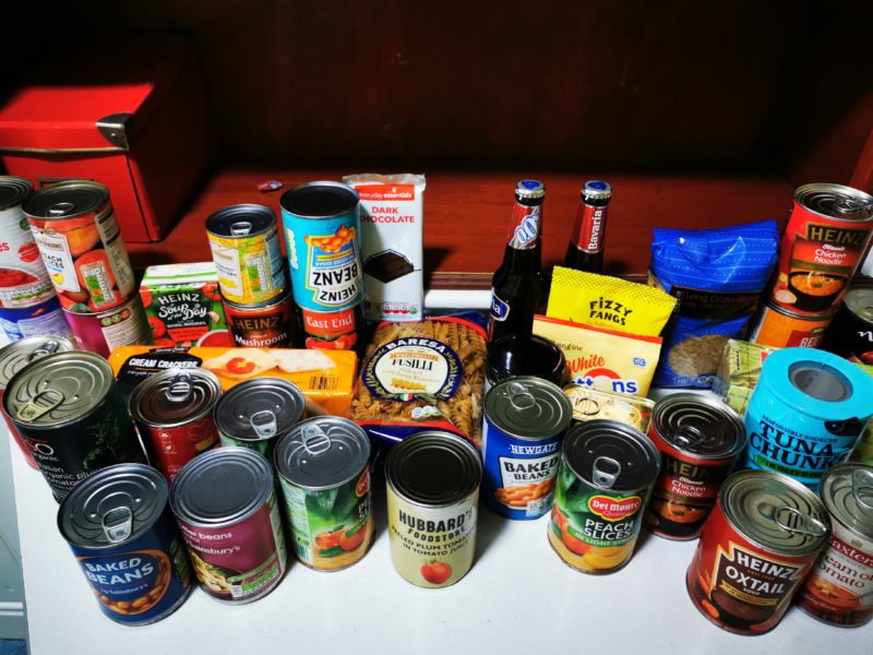 our motto - thank you for your food bank donations
