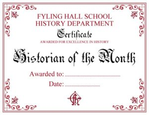 The Historian of the Month Award!
