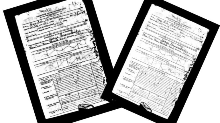 Great grandfather's papers for enrolment