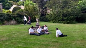 Year 9 taking full advantage of the fine weather